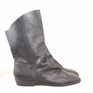 Unisa black Leather Suede black boots size 7.5